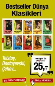 Bestseller Dünya Klasikleri Seti 10 Kitap Birarada Dünyanın