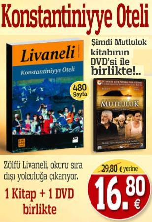 Livaneli Seti<br />(1 Kitap + 1 DVD)<br />Konstantiniyye Oteli <br />bu Sette!