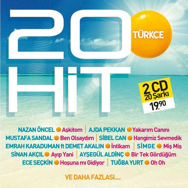 Türkçe 20 Hit<br />(2 CD Birarada)<br />Ajda Pekkan,<br />Mustafa Sandal,<br />Sibel Can