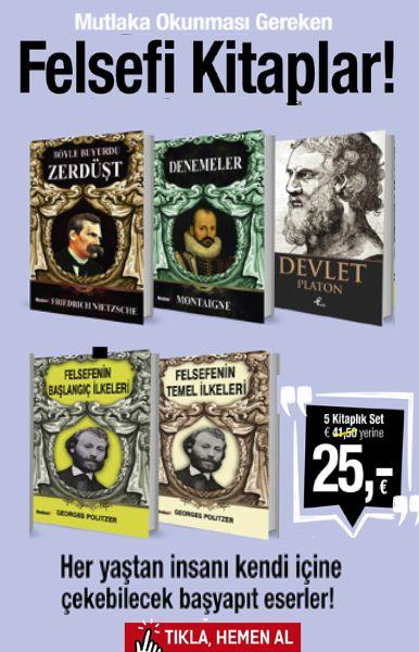 Felsefi Kitaplar Seti&#160; <br />(5 Kitap Birarada)&#160; <br />Ba&#351;yap&#305;t Felsefe Kitaplar&#305;!