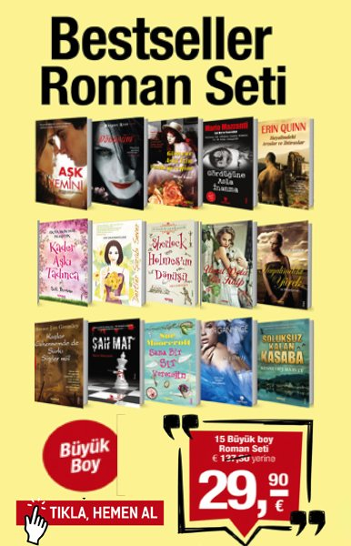 Bestseller Roman Seti<br />15 Kitap Birarada<br />TV'deki Yeni Kampanyam&#305;z