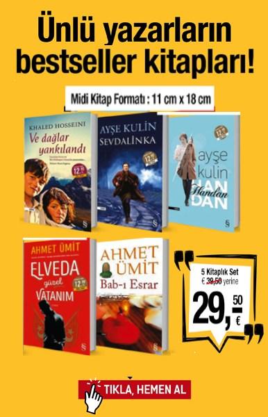 &#220;nl&#252; Yazarlar&#305;n <br />Bestseller Romanlar&#305; <br />(5 Kitap Birarada)