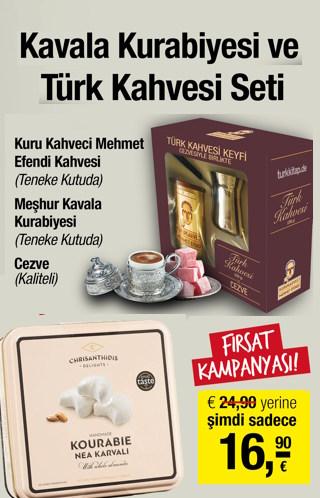Kavala Kurabiyesi ve Türk Kahvesi Seti (Orjinal Kutularında)