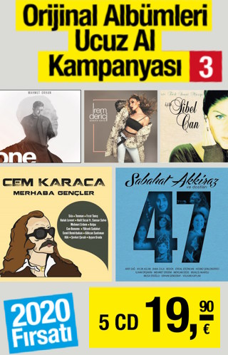 5 CD 19,90 Euro - Orijinal Albümleri Ucuz Al Kampanyası -3