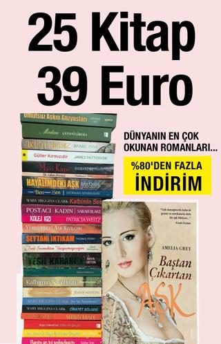 25 Kitap 39 Euro - Ünlü Aşk RomanlarıSeti (%80'den Fazla İndirim)